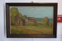 Картина «Золотая осень», художник Халиков Ф.Г., 1957 г.