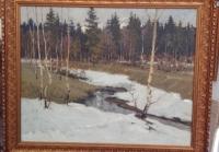 Картина «Весна», художник Родионов К.А.,СССР сер. XX в.