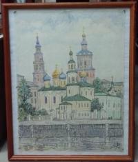 Картина «Казань. Вид на Петропавловский собор», 1991 г.