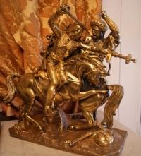 """Скульптура """"Схватка"""",  Европа XIX в."""