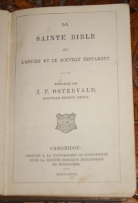 """La Sainte Bible"", Cambridge, 1878 г."