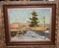 """Картина """"Сад в марте"""", художник Тимофеев В.К., 1945-1950-ые гг."""