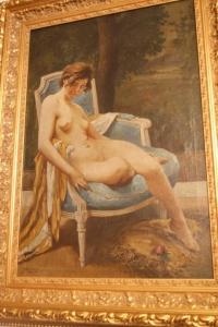 """Картина """"Обнаженная в кресле"""", Франция."""