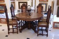 Стол со стульями в Бретонском стиле, Европа XIX в.