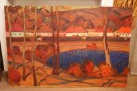 "Картина ""Осень в селе"", худ. Старостин Е.П. 1972 г."