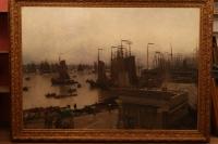 "Картина ""Порт"", худ.  Hans Herrman, кон. XVIII - нач. XIX вв."