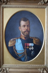 """Картина:  """"Портрет императора Николая II """" Россия, неизвестный художник, нач. ХХ века."""