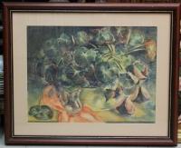 """Картина """"Натюрморт с бегонией"""", художник И. Шпитонов 1948г."""