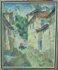 Картина «Эски Шахар», художник Садык Рахманов, 1950 г.