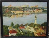 Картина «Мечеть Марджани», художник Газиев Р.Х. 1992 г.