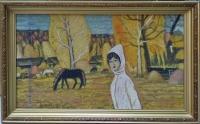 """Картина """"Ак кон"""" (перев. с тат. """"Ясный день""""), художник Зарипов И., 1995-96 г."""