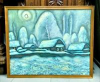 """Картина """"Якты Тон"""" (перев. с тат. """"Светлая ночь""""), художник  Зарипов И.К., 1992 г."""