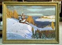 "Картина ""Церковь на берегу"", Художник М.Федулов, 1909 г."