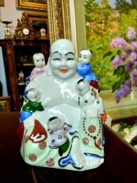 """Статуэтка """"Будда-Хотей с детьми"""", Восточная Азия, сер. ХХ в."""