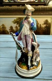 Статуэтка «Охотник с собакой», нач. ХХ в. Европа.