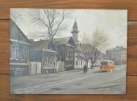 """Картина """"ул. К.Насыйри с трамваем"""", художник Минияров Р.Т."""