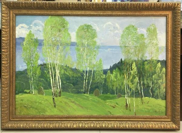 "Картина ""Волга у Гребеней"" 1980 год"
