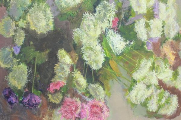 Картина «Натюрморт с полевыми цветами» художник Нафиков Р.Х. СССР