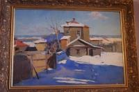 """Картина """"Зима в деревне"""", худ. Тимофеев В.К."""