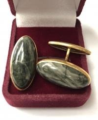 Запонки с натуральными камнями