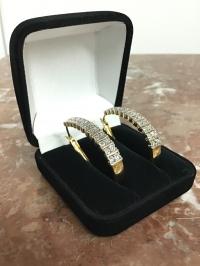 серьги, серебро с бриллиантами