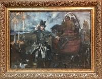 """Картина """"Пушкин. По следам Пугачева"""", художник Федоров В.К., 1987 г."""