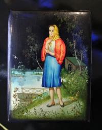 Шкатулка «Девушка в платке» СССР, ХХ в., 60-е г.