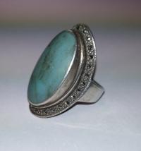 Серебряное кольцо женское с бирюзой