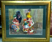 "Картина ""Веселая семейка"", художник Рахманкулова Г. А., 1980 г."