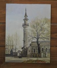 """Картина """"Азимовская мечеть"""", художник Минияров Р.Т."""