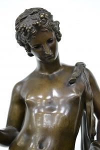 """Скульптура """"Дионис - младший сын Зевса, бог  виноделия и вдохновения"""", Бельгия, XIX в."""