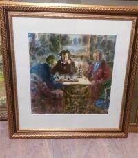 Картина Пушкин в Казани  (Встреча с Фуксом и Перцовым, СССР 1977г.