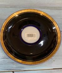 блюдце(ЛФЗ)кобальт, золочение ,диаметр блюдца15 см