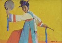 "Картина ""Мотив из пляски Нонак"", художник Якупов Х.А., 1961г."